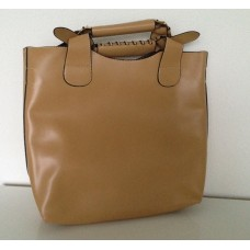 Shopper met enveloptas beige