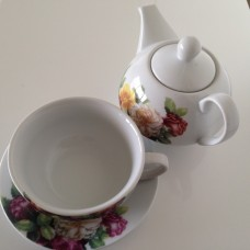 Tea For One Theeset Floral Design
