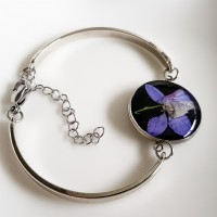 Happy Violet Blue Flower – armband